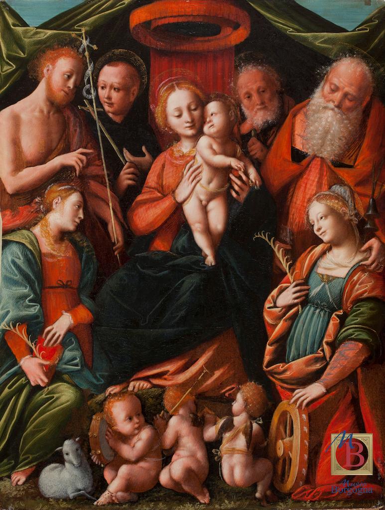 museo borgogna bernardino lanino sacra conversazione pittura italiana rinascimento