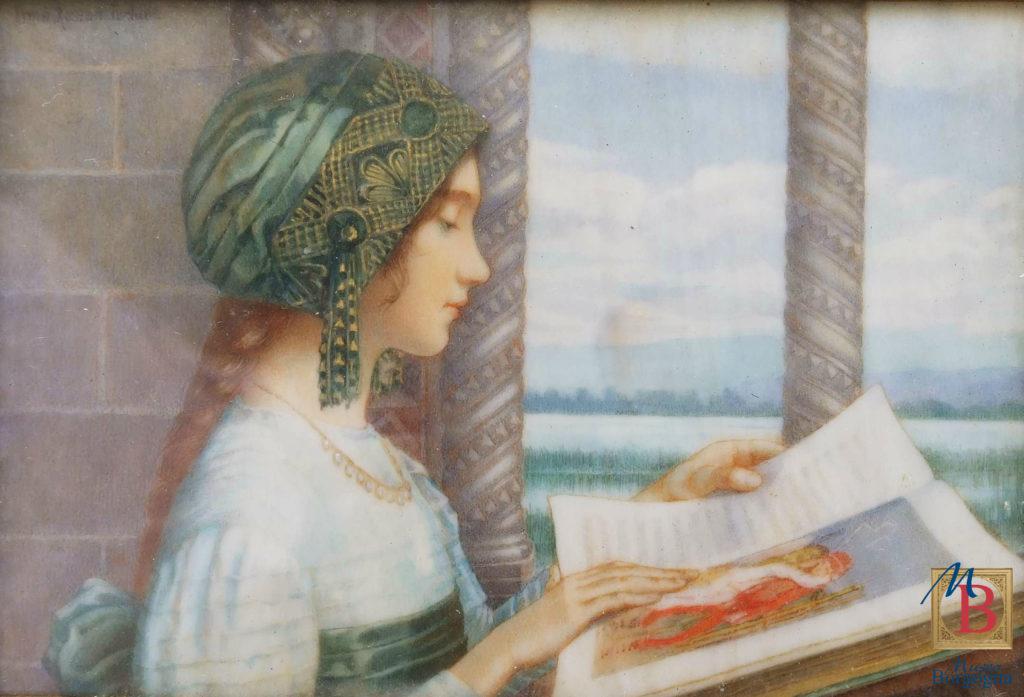 Irma Rossaro, Ritratto di Luisa Bodo, miniatura, Museo Borgogna Vercelli