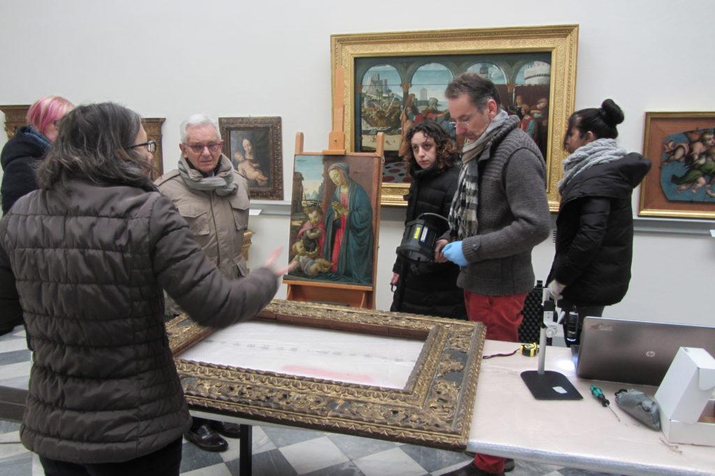 David Ghirlandaio Museo Borgogna restauro cornice