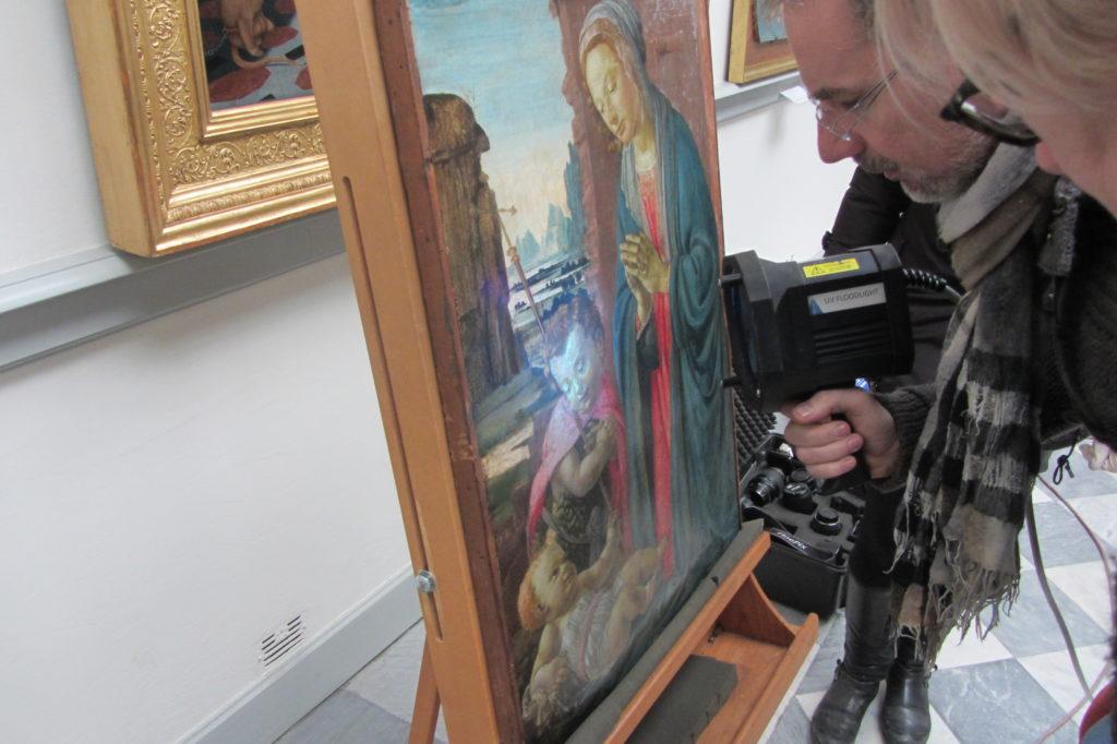 David Ghirlandaio Museo Borgogna restauro UV
