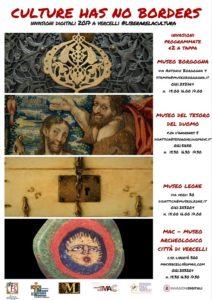Vercelli, Museo Borgogna, Invasioni Digitali, Culture has no borders, #Liberarelacultura, Servizio Civile Vercelli