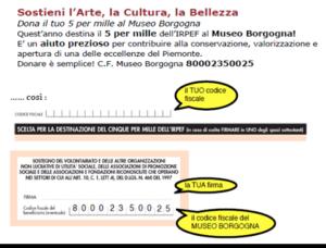 Vercelli, Museo Borgogna, Destinazione Cinque per mille