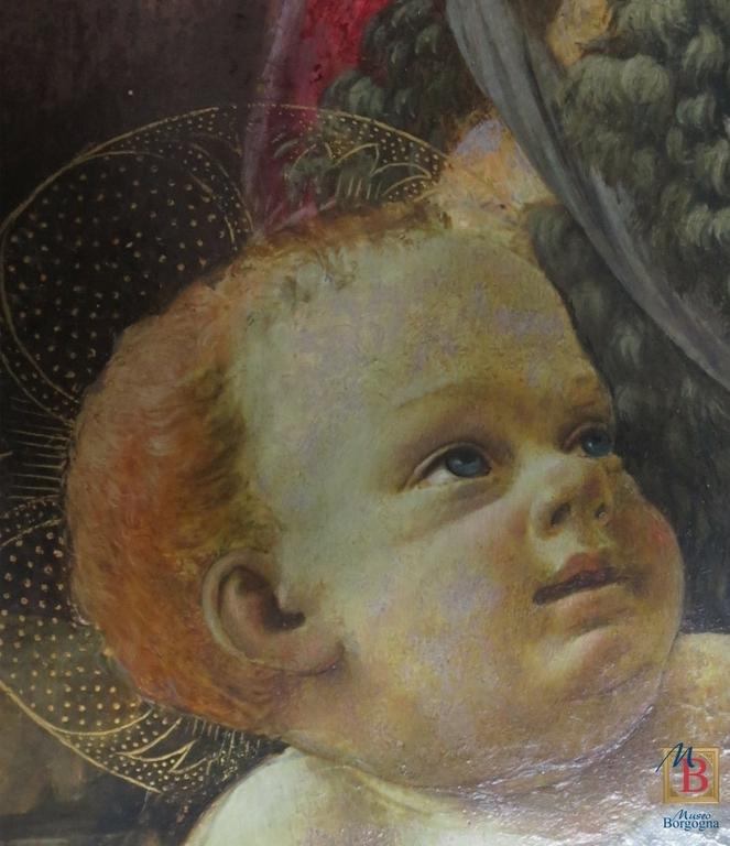 Restauro, Bottega di David Ghirlandaio, tavola, particolare, Museo Borgogna, Vercelli