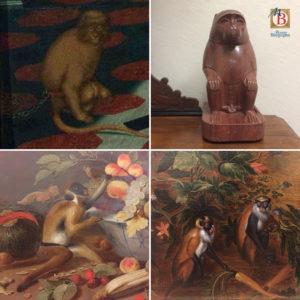 collage di Scimmie al Museo